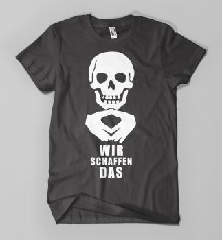 80902479d6168a Versand der Bewegung - T-Shirt Wir schaffen das